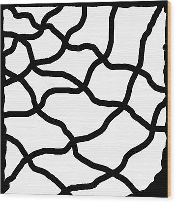 Monochrome New1builder3 Glyph 11 Wood Print