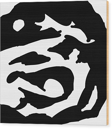 Monochrome New1builder3 Glyph 2 Wood Print