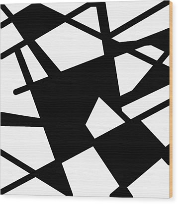 Monochrome New1builder3 Glyph 5 Wood Print