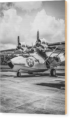 Monochrome Pby5a Wood Print