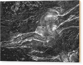 Monochrome Sea Wood Print by  Onyonet  Photo Studios