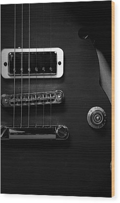 Monochrome Yamaha 3 Wood Print by David Weeks