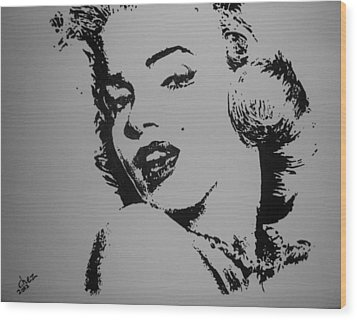 Wood Print featuring the painting Monroe by Cherise Foster