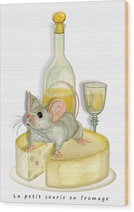 Monsieur Mouse Wood Print