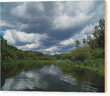Monsoon Sky Wood Print by Feva  Fotos