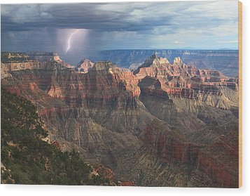 Monsoon Sunset Wood Print by Mike Buchheit