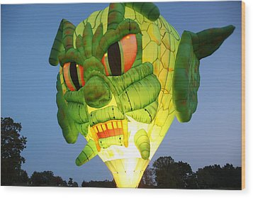 Monster Balloon Wood Print by Richard Engelbrecht