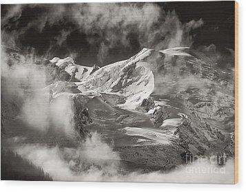 Mont Blanc Group Wood Print by Juergen Klust