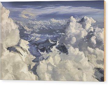 Mont Blanc Wood Print by Muhie Kanawati