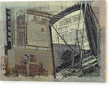 Montage Of Minneapolis Wood Print by Susan Stone