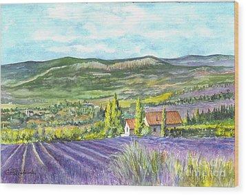 Montagne De Lure En Provence Wood Print by Carol Wisniewski