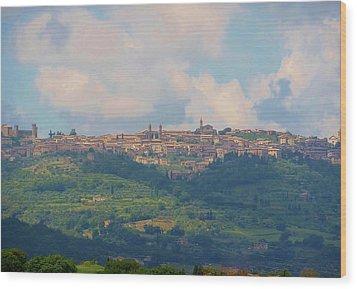 Montalcino Wood Print by Marilyn Dunlap
