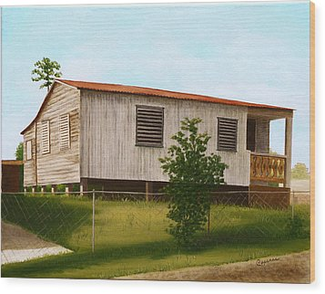 Montalvo Family House - Puerto Rico Wood Print by Robin Capecci
