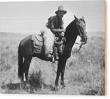 Montana Cowboy 1904 Wood Print by Granger