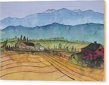 Montana Dreams Wood Print by Carolyn Doe