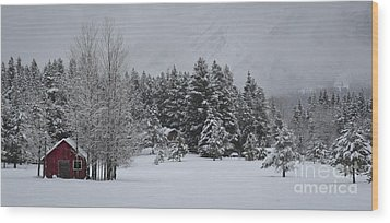 Montana Morning Wood Print