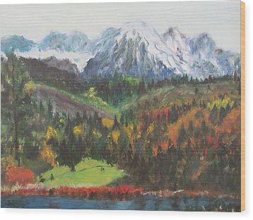 Montana Mountains In The Fall Wood Print