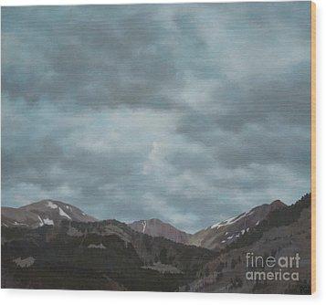 Montana Near Choteau Wood Print
