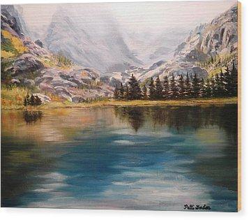Montana Reflections Wood Print