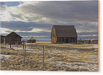 Montana Rural Scenery Wood Print by Dana Moyer
