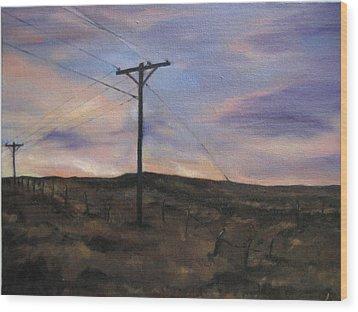 Montana Sky Wood Print