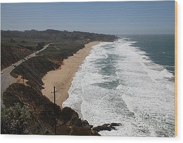 Montara State Beach Pacific Coast Highway California 5d22621 Wood Print by Wingsdomain Art and Photography