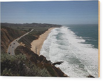 Montara State Beach Pacific Coast Highway California 5d22624 Wood Print by Wingsdomain Art and Photography