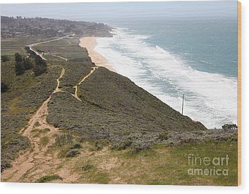 Montara State Beach Pacific Coast Highway California 5d22632 Wood Print by Wingsdomain Art and Photography