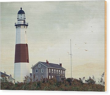Montauk Dusk Wood Print by Keith Armstrong