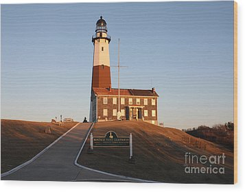 Montauk Lighthouse Entrance Wood Print