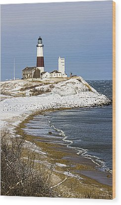 Montauk Snow Wood Print
