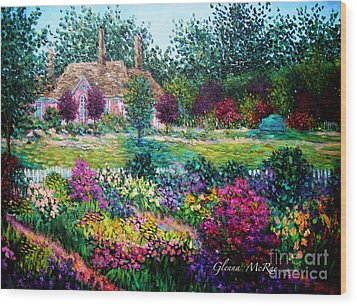 Montclair English Garden Wood Print