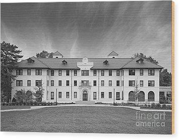 Montclair State University Edward Russ Hall Wood Print by University Icons