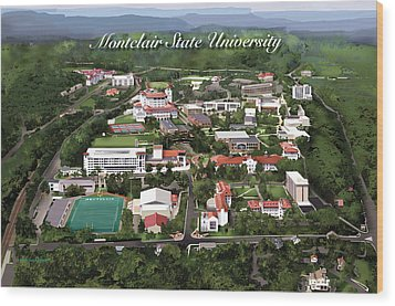 Montclair State University Wood Print by Rhett and Sherry  Erb
