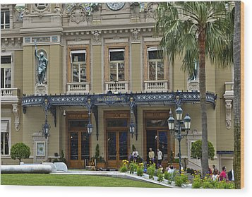 Wood Print featuring the photograph Monte Carlo Casino by Allen Sheffield
