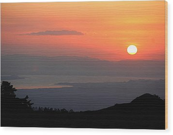 Monte Verde Sunset Wood Print