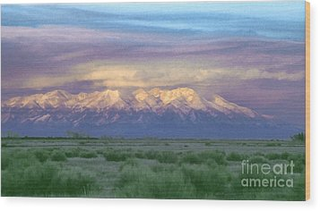 Wood Print featuring the painting Monte Vista Sunrise 1 by Teri Atkins Brown