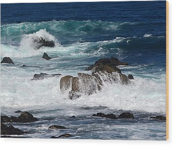Wood Print featuring the photograph Monterey-6 by Dean Ferreira