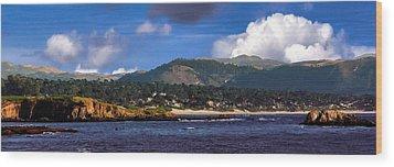 Monterey Bay California Wood Print by Lynn Bolt