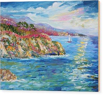 Monterey California Spring Wood Print by Karen Tarlton