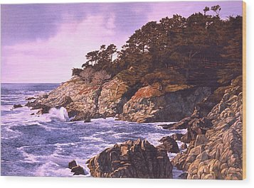 Wood Print featuring the painting Monterey Glory by Tom Wooldridge
