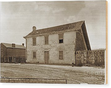 Monterey Whaling Station Circa 1895 Wood Print by California Views Mr Pat Hathaway Archives