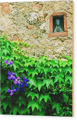 Monteriggioni Virgin Wood Print by Maria Huntley