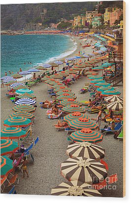 Monterosso Beach Wood Print by Inge Johnsson