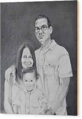 Montes Family Wood Print