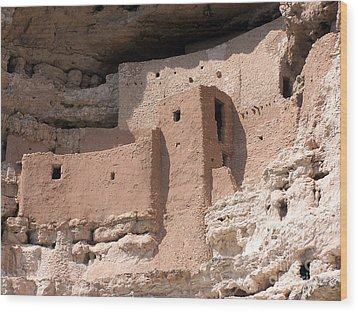 Wood Print featuring the photograph Montezuma Castle 2 by Tom Doud