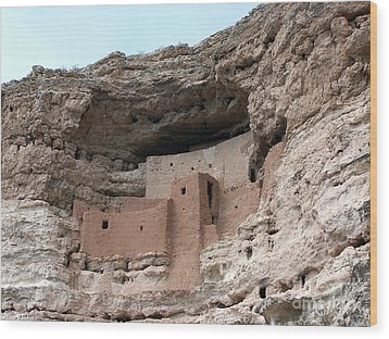 Wood Print featuring the photograph Montezuma Castle 3 by Tom Doud