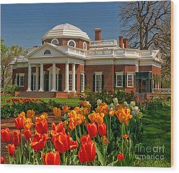 Monticello Wood Print by Nigel Fletcher-Jones