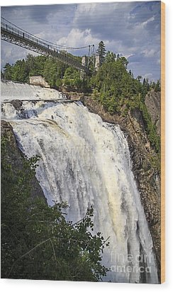 Montmorency Falls Park Quebec City Canada Wood Print by Edward Fielding