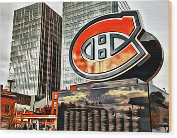 Montreal C Wood Print by Alice Gipson